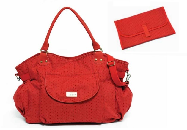 Bolso HAPPY LITTLE MOMENTS Lola Rojo con pintitas negras - comprar online