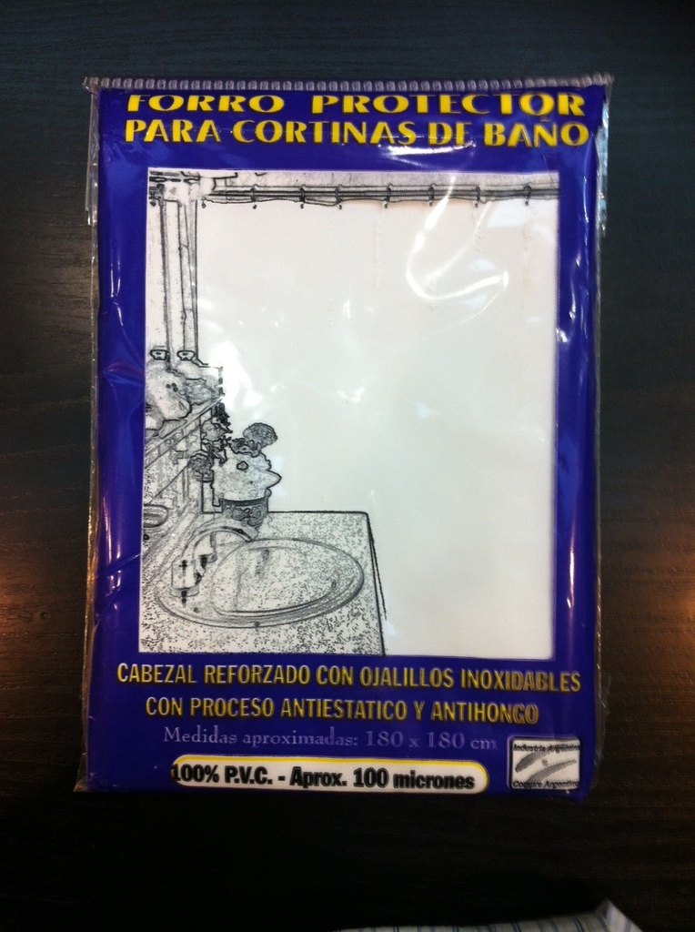 Cortina Protectora Para Cortina De Ba O Forro Protector