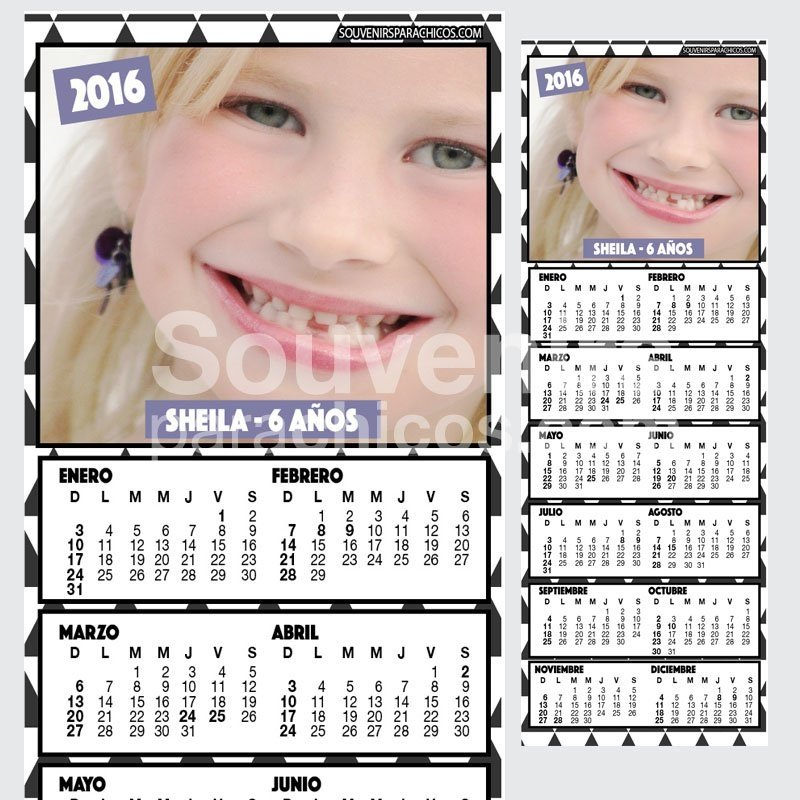 10% OFF - 10 CALENDARIOS 10x29,5cm