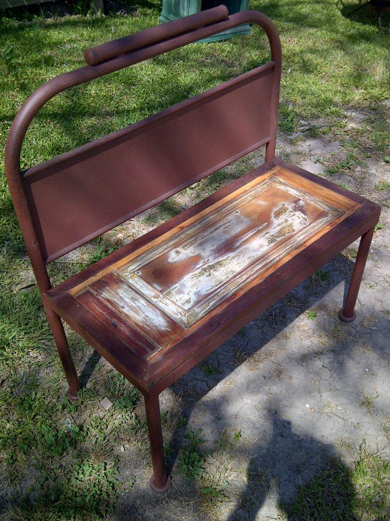 Banco de hierro y madera comprar en santomercado for Banco de jardin de hierro y madera