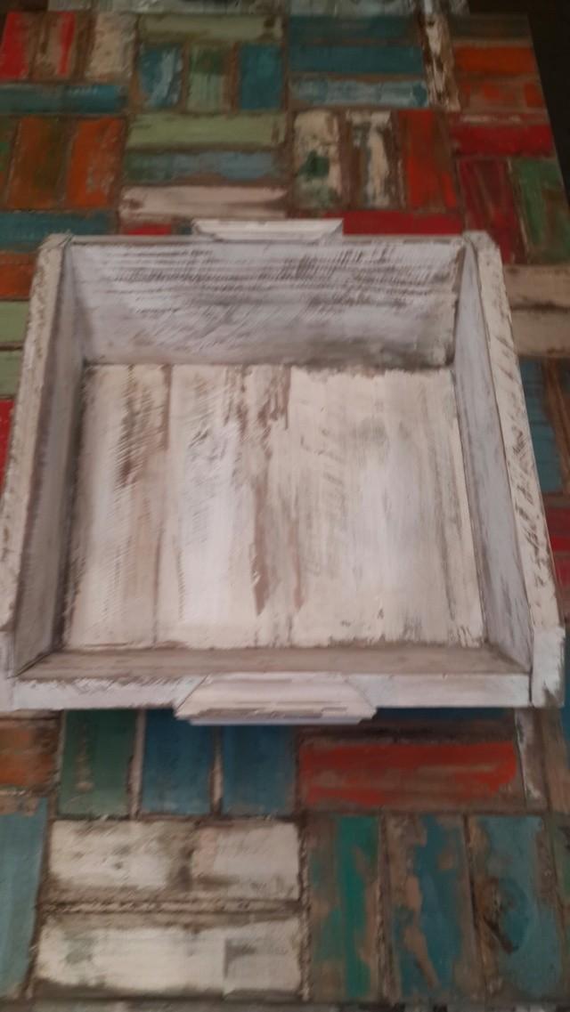 Bandeja de madera decapada comprar en santomercado - Bandeja de madera ...