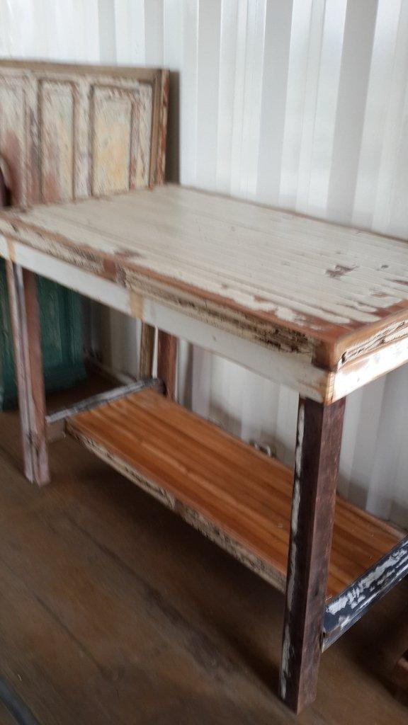 Desayunador madera decapada comprar en santomercado for Mesa desayunador