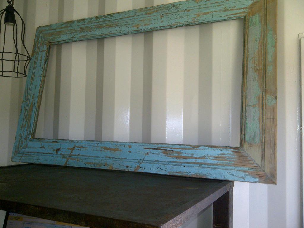 Marcos para cuadro o espejo en madera santomercado for Espejos redondos con marco de madera