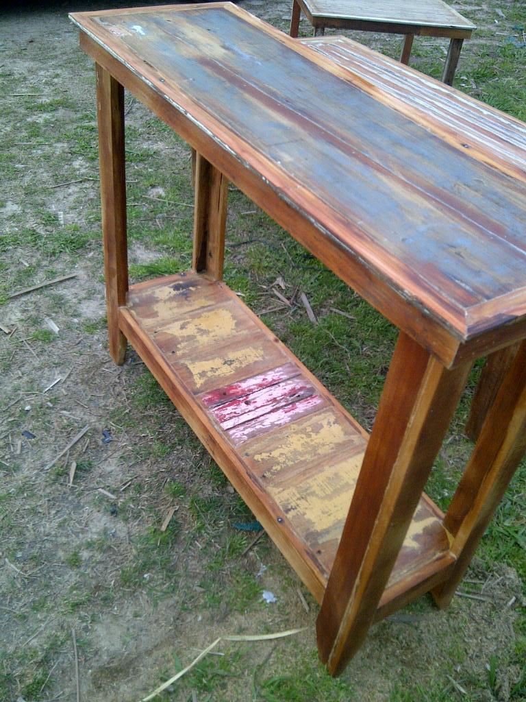 Mesa de arrime madera reciclada santomercado - Mesas madera reciclada ...