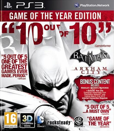 BATMAN ARKHAM CITY GOTY EDITION PS3