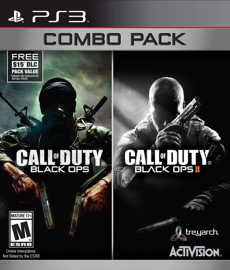 CALL OF DUTY BLACK OPS COMBO 1 Y 2 PS3