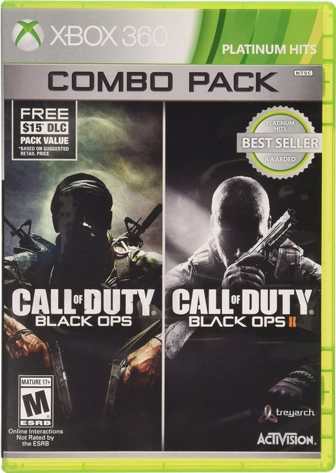 CALL OF DUTY: BLACK OPS COMBO PACK - XBOX 360