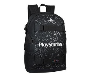 MOCHILA PLAYSTATION ORIGINAL - NOTEBOOK Y SKATE - Play For Fun