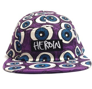 BONÉ 5 PANEL HEROIN EYES PURPLE