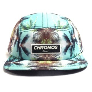 BONÉ CHRONOS 5 PANEL PALM TREES