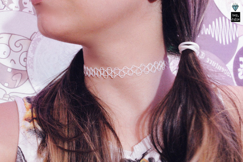 Tattoo Choker Cloud + Pulseira