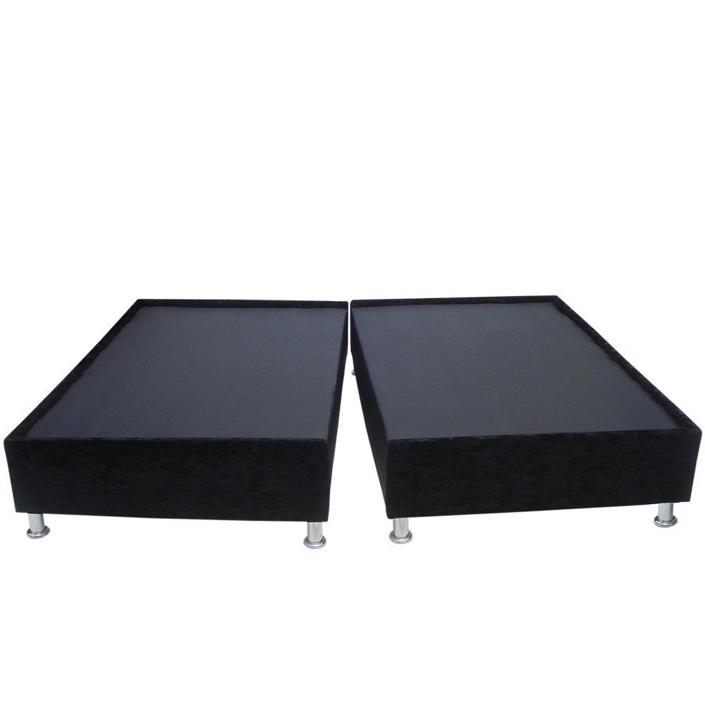 Base cama semidoble dividida negro marca muebles fantas a for Cama semidoble