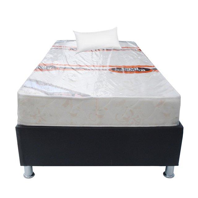 Comprar combo base cama colchon en muebles fantasia for Colchon cama sencilla
