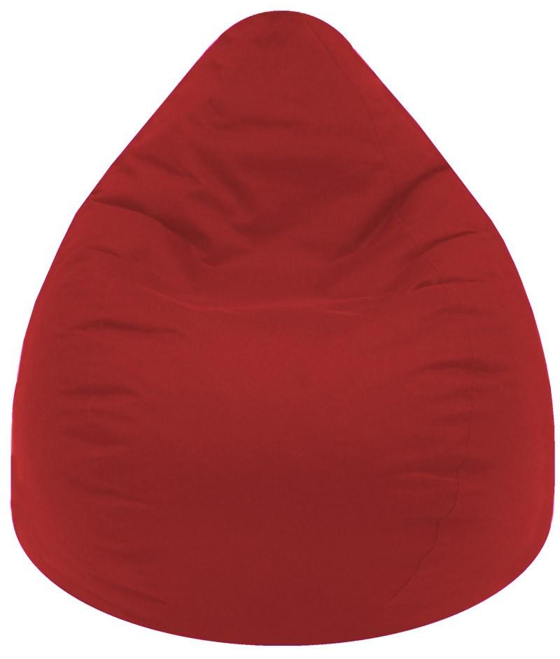 Puff pera lona grande rojo - Puff de pera ...