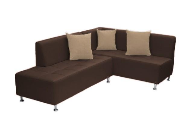 Sof esquinero brazo derecho ecocuero chocolate for Sofa cama esquinero