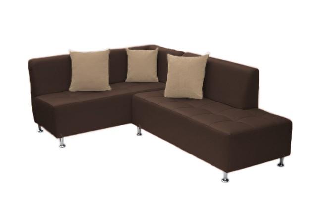 Sof esquinero brazo izquierdo chocolate for Sofa modular esquinero