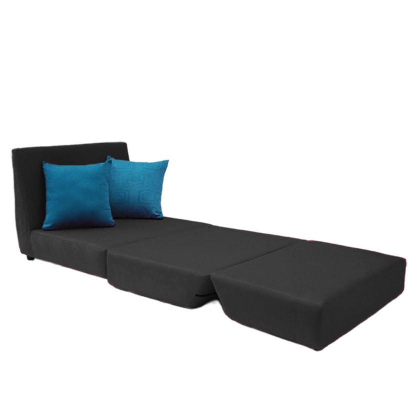 Sof cama tipo lido lona negro - Camas tipo sofa ...