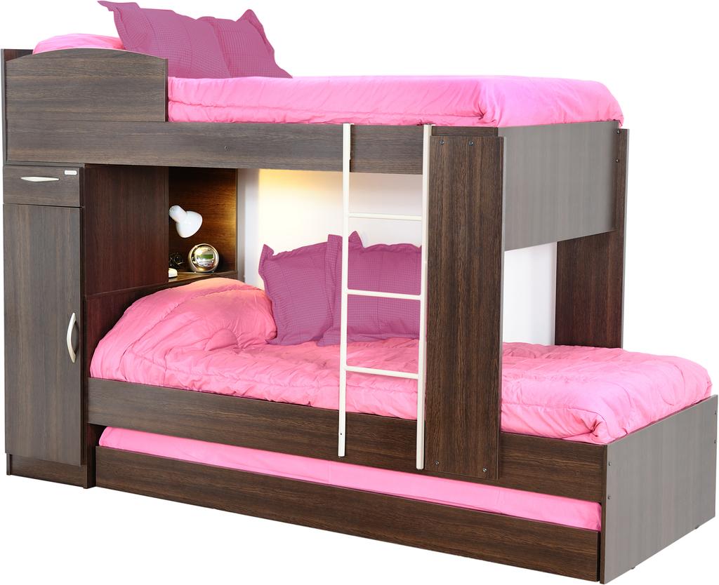 Amoblamientos de dormitorio primer marca cucheta triple for Amoblamientos para dormitorios