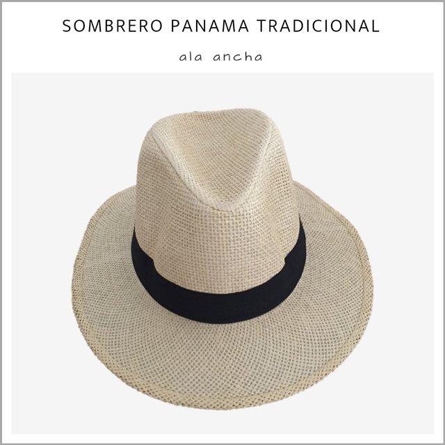 c50f47d9a26e1 Sombrero Panama tradicional ala ancha - Pack x 10