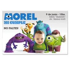 Monster Inc // invitaciones personalizadas