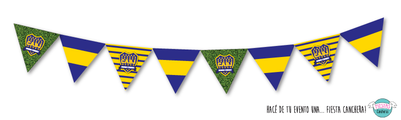 banderines de boca juniors