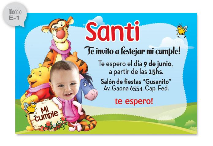 Hacer invitaciónes de Winnie Pooh - Imagui