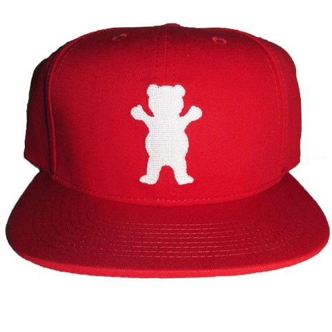 Boné Grizzly 5Panel OG Bear Strapback Red