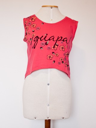 Regata Cropped Rosa - Tam P