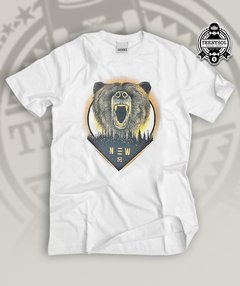 camiseta de urso new skate culture branca