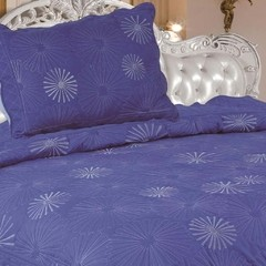 Quilt Decoraciones Integrales Bordado Twin Size Color Azul