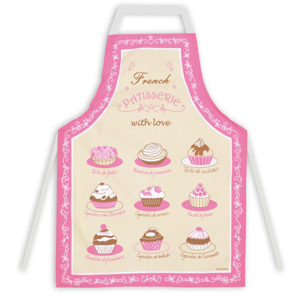 Delantal de cocina vh fabrics algodon dise o cupcakes for Delantales de cocina