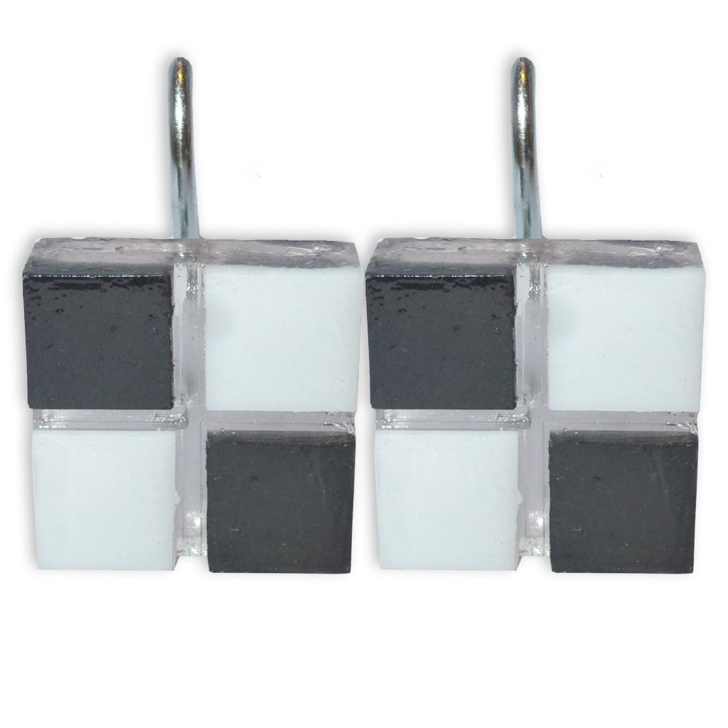 Ganchos para cortina de ba o resina gardisette dise o venecita citiblanc - Cortinas de bano de diseno ...