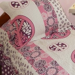 Quilt Decoraciones Integrales Twin Size Diseño Love