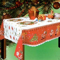 Mantel Navideño Rectangular 2,00 mts Estampado