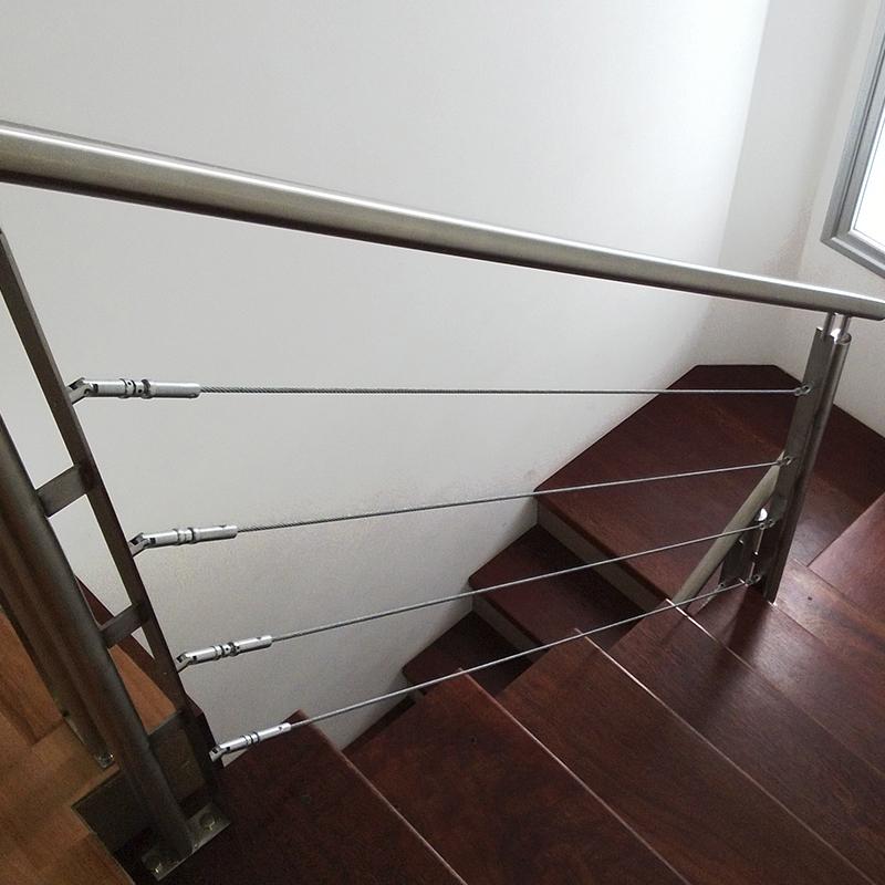 Juego de tensores articulados para escalera temacasa for Tensores para cable