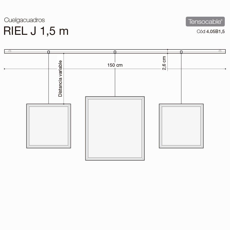 Riel j de aluminio de para colgar cuadros - Rieles colgar cuadros ...