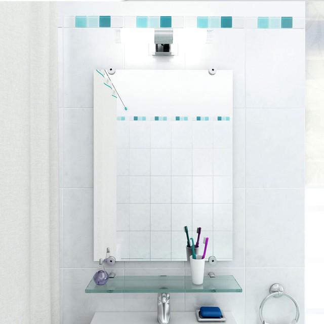 Estante de vidrio para ba o de 45cm x 10cm temacasa for Estantes vidrio bano