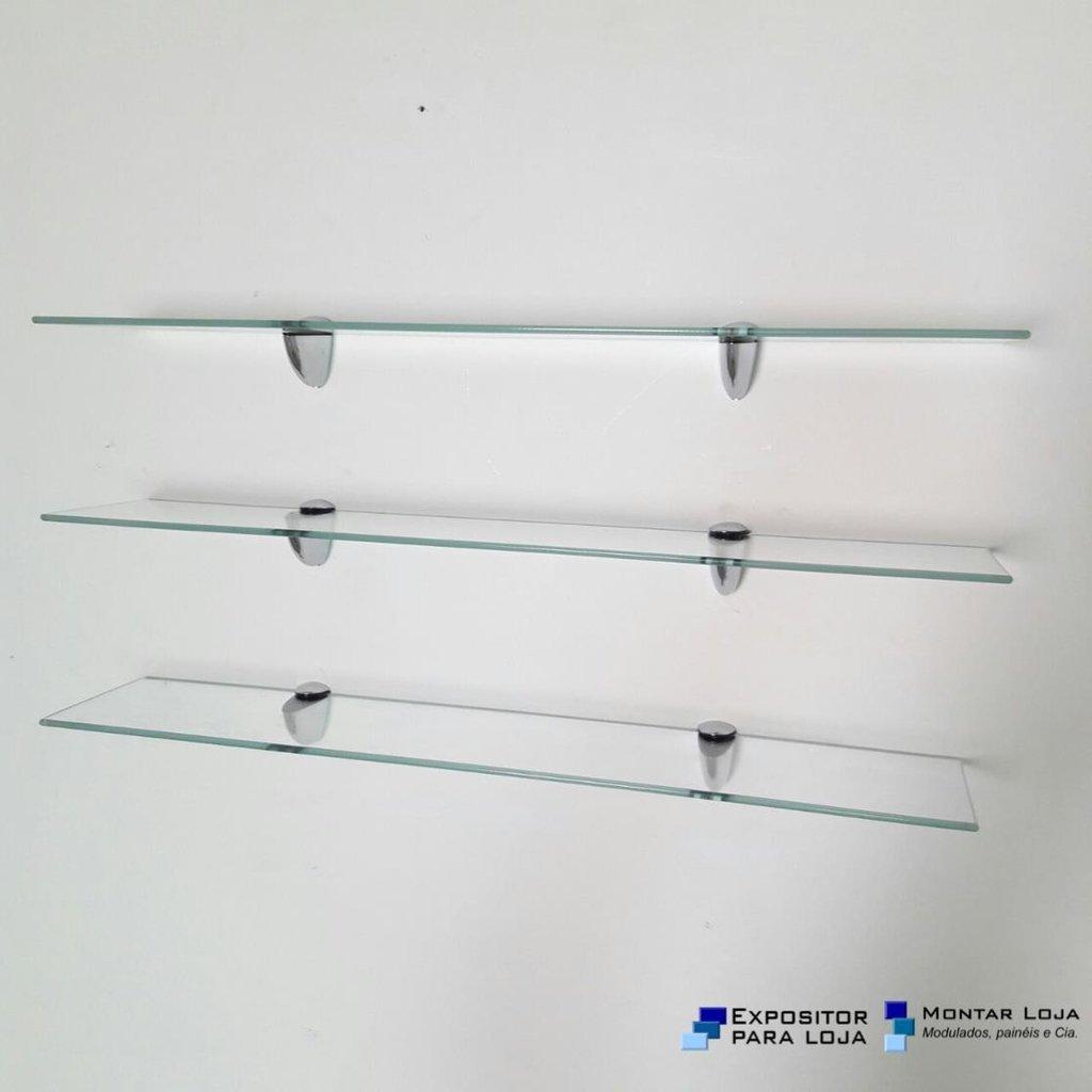 Kit 3 Prateleiras vidro 4mm banheiro Bico Tucano Montar Loja #10238C 1024 1024