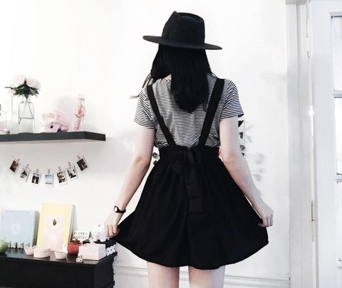 THE BOW DRESS {NEGRO}