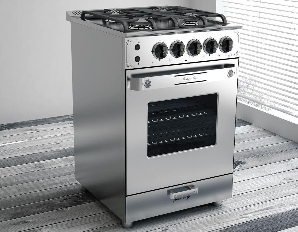 Cocina luxor gas garden steel 55 cm lvequipamiento for Cocina gas profesional