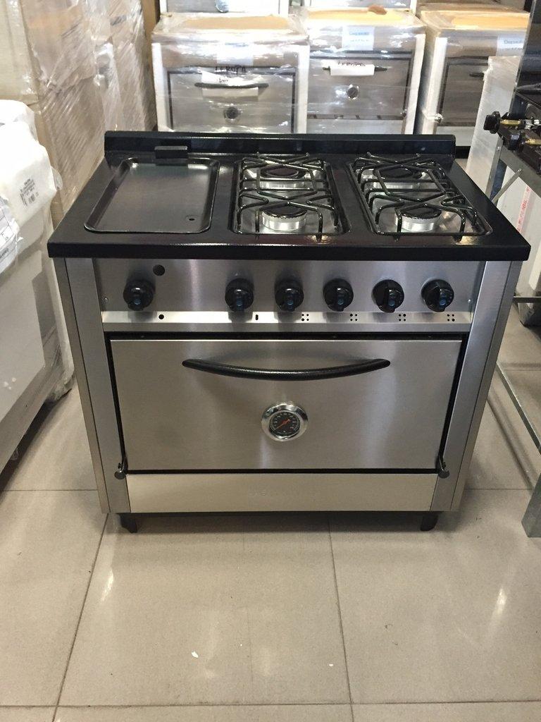 Cocina 4 hornallas y plancha acero inox superoferta for Cocinas 8 hornallas