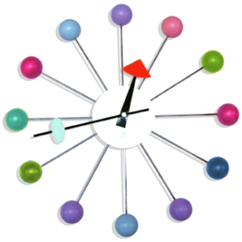 Reloj de Pared Ball Clock (George Nelson)