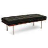 Chaise Lounge Barcelona Bench (Eco.Cuero-Cromado)