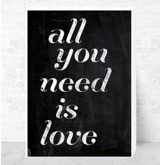 Cuadro Decorativo (50 x 70 cm.) All You Need is Love