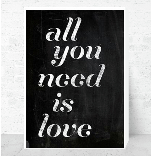 Cuadro Decorativo (20 x 30 cm.) All You Need is Love