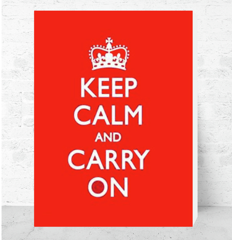 Cuadro Decorativo (50 x 70 cm.) Keep Calm and Carry On