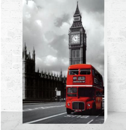 Cuadro Decorativo (50 x 70 cm.) Big Ben London