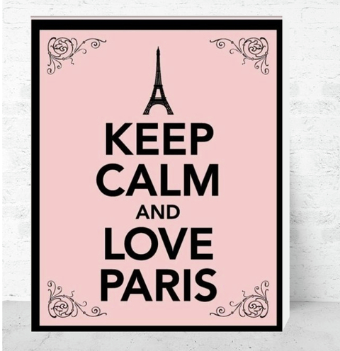 Cuadro Decorativo (20 x 30 cm.) Keep Calm and Love Paris