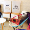 Cuadro Decorativo (50 x 70 cm.) Let´s Stay Home