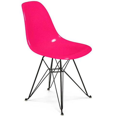 Silla DSR (Nacional- Mate Color/Base Negra)